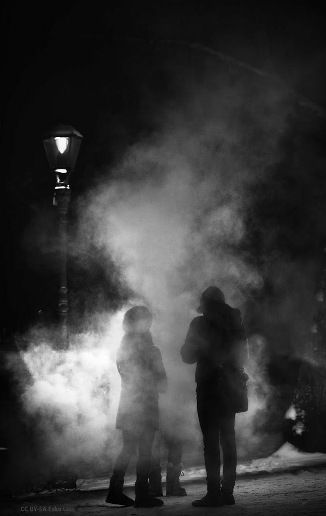 Powwow in the mist